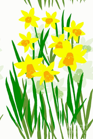 Daffodils Drawing Digital Art