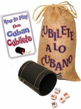 Cubilete A Lo Cubano Game In Yute Bag