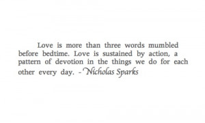 love, nicholas sparks, quotes