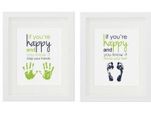 Popular items for baby footprint art