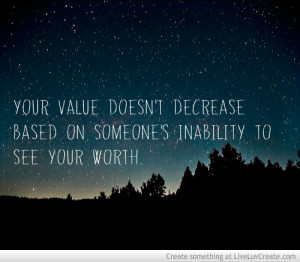 Another Self Worth Quote