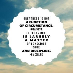 圖片標題: Jim Collins Quote: Greatness
