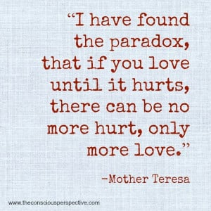 ... Wisdom Wednesday ~ A Quote from Mother Teresa — The Conscious