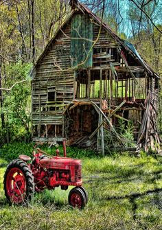old tractor nearly gone barn more new stuff beautiful barns old ...