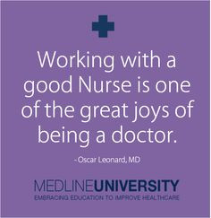 good #Nurse is one of the great joys of being a doctor. #Nursing ...