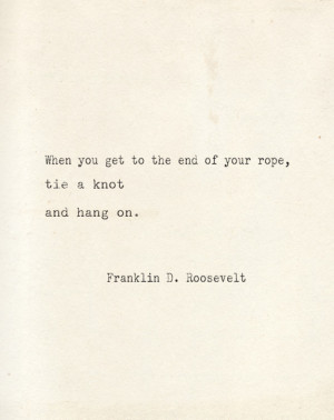 HANG IN THERE…
