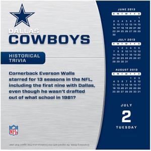fy15 obsolete dallas cowboys 2013 desk calendar dallas cowboys ...