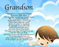 Personalised Grandson Poem Birthday Christmas Christening Gift Present