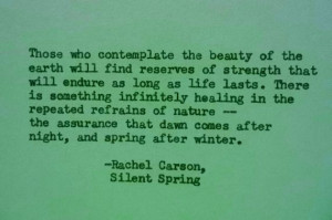 RACHEL CARSON NATURE Earth Day Quote Hand Typed Quote Made with ...