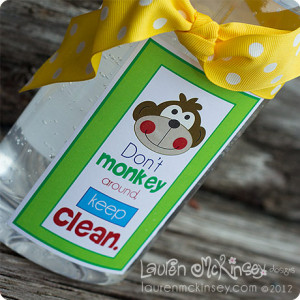 ... -monkey hand sanitizer soap labels - teacher appreciation week