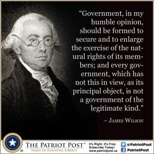Quote: James Wilson on Legitimate Government
