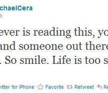 cute, michael cera, quote, tweet