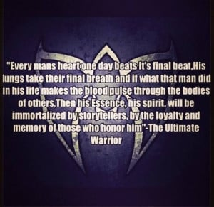 very good quote from ultimate warrior