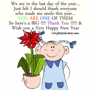 ... you and happy new year quotes - We are in the last DAY of the year