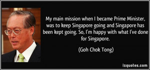 More Goh Chok Tong Quotes
