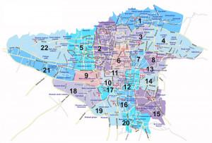 Tehran Regions Region Map...