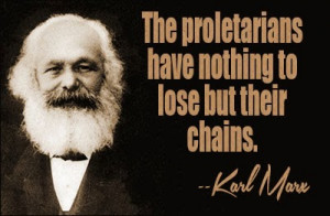 Karl Marx and one of his quotes.