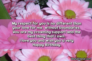 ... best thing that I own. I love you and wish you a very Happy Birthday