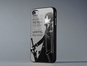 Sword art online kirito quote iPhone 4/4s/5/5c/5s by IevanPolka