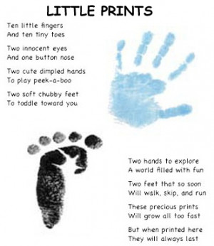 hand and feet print page