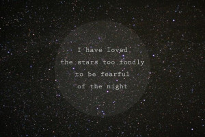 night sky and circled quote