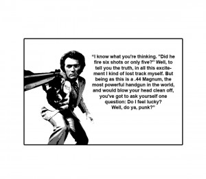 ... about POSTER UN-FRAMED CANVAS - ICON - Clint Eastwood - Dirty Harry