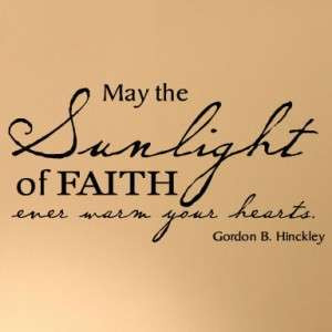 Faith Hearts vinyl lettering wall saying quote LDS word