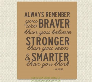 Remember, Sayings Quotes, Pooh Quotes, Baby Quotes, Braver, Baby ...