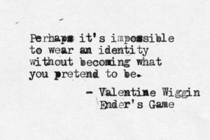 Valentine Wiggin, Ender's Game. This book, this book, this book ...