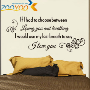 love you quote Lovers bedroom wall decal decorative vinyl wall ...
