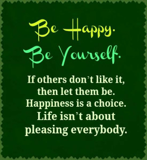 Be happy quotes and sayings image