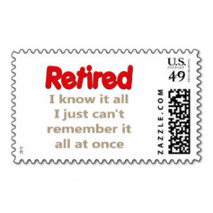 Retirement Sayings Postage Stamps