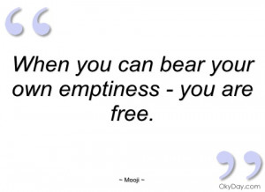Emptiness Quotes And Sayings Own emptiness - you mooji