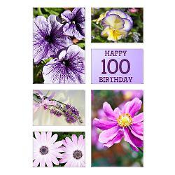 100th_birthday_lavender_hues_greeting_card.jpg?height=250&width=250 ...