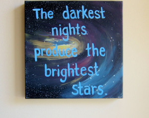 ON SALE Inspirational Quotes on Canvas Quote Paintings The Darkest ...