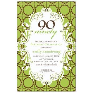 invitations birthday invitations milestone invitations 90th birthday ...