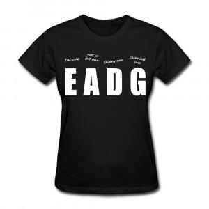 design t shirt manica corta delle donne bassista immagine fresca ...