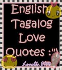 English Tagalog Love Quotes