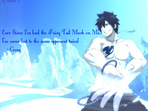 Gray Fullbuster FT Wallpaper (with a quote) by Mari-chan119