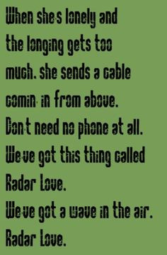 ... radar love song lyrics music lyrics song quotes music quotes songs