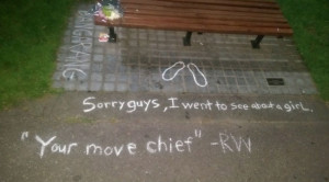 robin williams fans turn the good will hunting bench into a makeshift ...