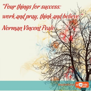 Inspirational Wallpaper Quote by Norman Vincent Peale