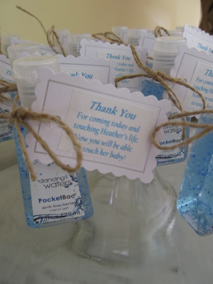 Burlap and Blue Baby Shower