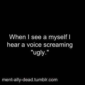 depression, quote, ugly