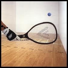 LOVE playing raquetball with my friends