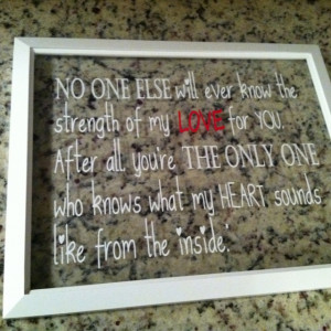 Glass wall hanging with baby quote from BoardCrazy @ boardcrazy2@gmail ...