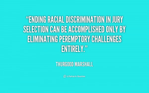 Ending racial discrimination in jury selection can be accomplished ...