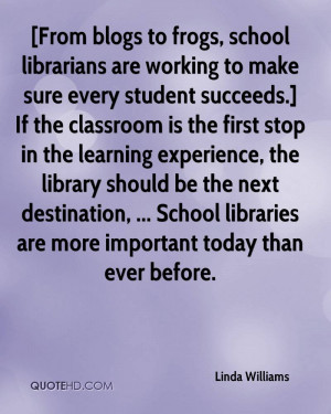 From blogs to frogs, school librarians are working to make sure every ...