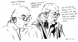 And here's a sketch from long ago of the late Dr. Jonathan Cohen ...