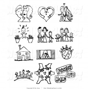 Black And White Cute Love Quotes Family clip art black and
